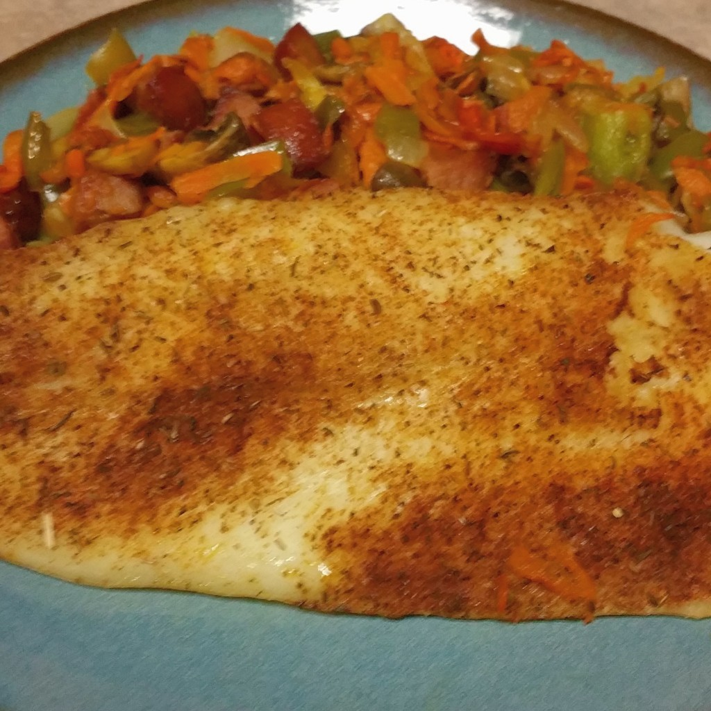 Pangasius with Vegetable Saute