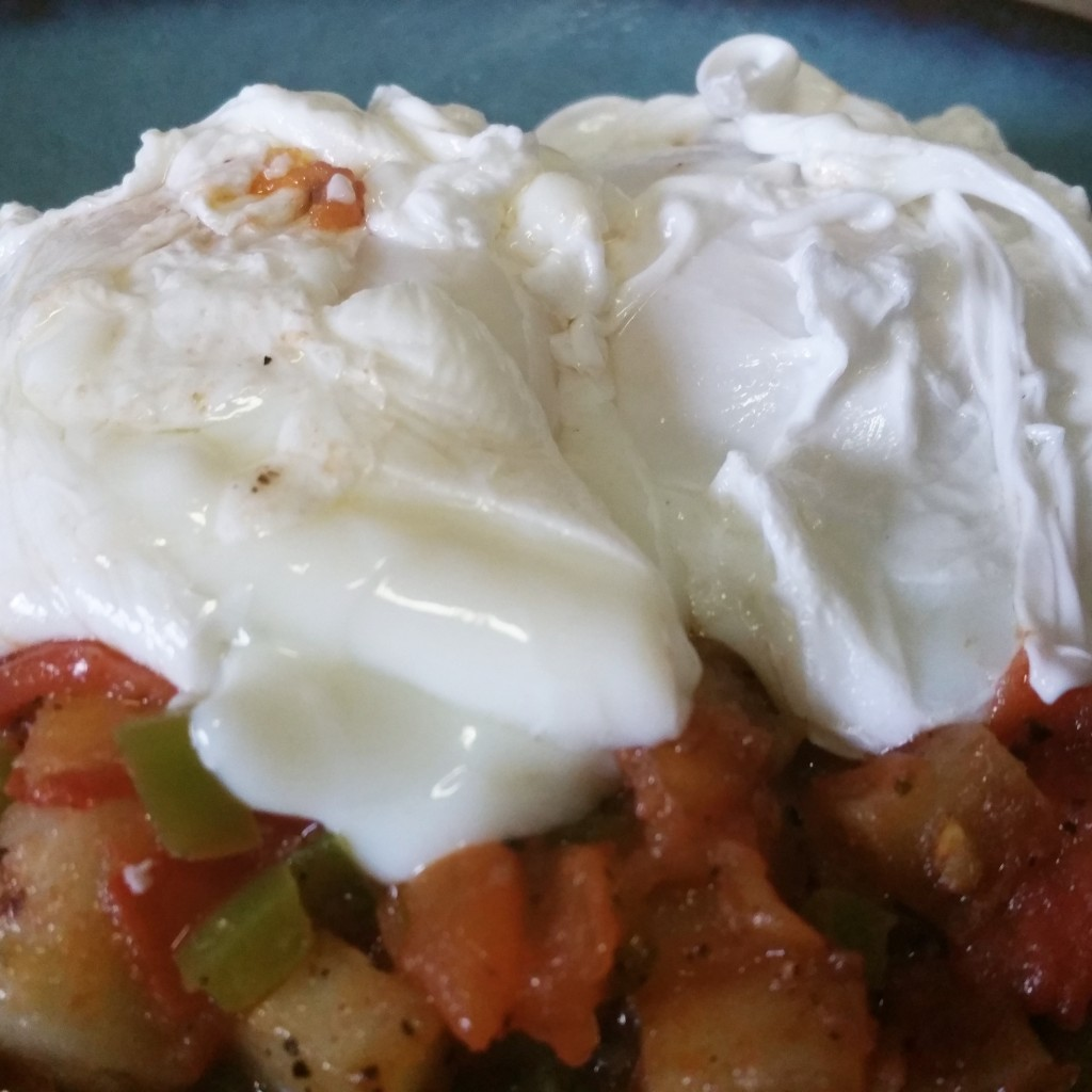 Potato Hash and Poached Eggs