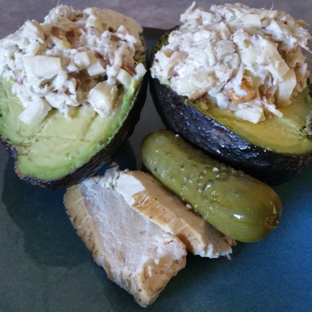 Apple Pecan Chicken Salad in Avocado Cups